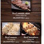 Beef outside skirt 58,000d/ 1 piece