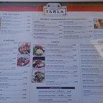 Tarla menu