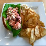 Lobster Roll with Coleslw and Homemade Chips