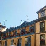Plaza del Fontán. Edificios muy coloridos