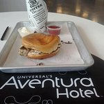 Grouper sandwich at the Universal Aventura Hotel in Orlando, FL