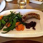 Andouillette 5A de chez Laurent BARRIS avec cocotte de légumes variés