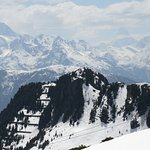 Vista sulle Alpi da Riederalp in maggio