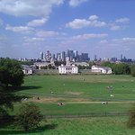 View from the hill at Greenwich Observatory