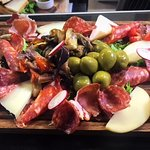 Mixed cured Italian meat and cheeses