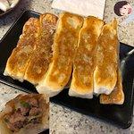 Thanks BroS :) #4105 pan-fried pork dumplings/pot stickers (8) $7.75 - cash money only