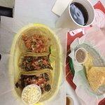 Numero Uno, 3 Tacos & Soda $7.50