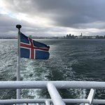 View of Reykjavík from the boat
