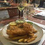 Cod Fish & Chips with White Wine