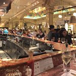 The Fish & Chips counter at Harrods.