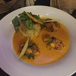 This may have been the best meal I have ever eaten, My wife Judy had the Monkfish Tikka, she lov