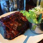 half rack pork ribs with salad