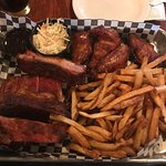 Coleslaw, Smoked Chicken Wings, and Ribs
