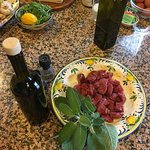 Organic grass fed beef and Tuscan olive oil