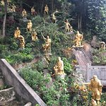 The lush part: a garden of Buddhas at the very top of the monastery.
