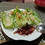 Unique Caesar Salad presentation.