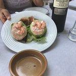 avocado and shrimp starter