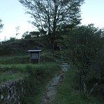 赤木城の麓の風景