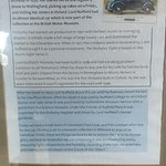 One of his cars and some information about it.