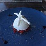Vacherin fraise basilic