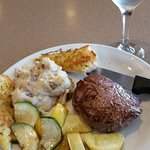 Denny's Steak Dinner-delicious! Great value.