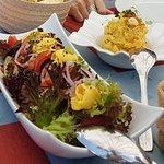 Ensalada con mango / Enasaladilla de batata amarilla