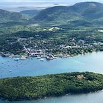 Bar Harbor from the air