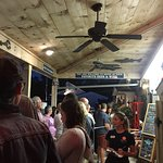After 7PM line. The host was very hospitable. be aware that you CAN bring in your own beer & win