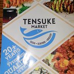menu cover page for the Tensuke Market
