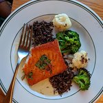 Salmon was nicely prepared