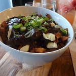 large poutine, fries are fresh and sauce homemade and very good