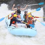 Gauley River Class V rapids, touching the rock