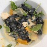 Black Gnocchi and Shrimp