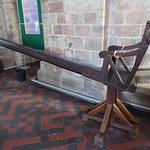 The chair where the scold was restrained