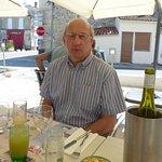 on the terrace at Le Gabarier