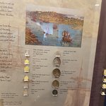 Some of the coins that the settlers, soldiers and prisoners had when they arrived in Australia