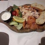Seafood platter starter