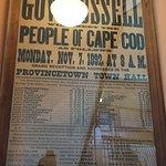 Vintage poster inside hall