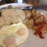 Country fried steak and eggs!!!