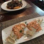 Choc/Coffee Steak & Lobster/Asparagus Crepes.