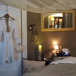 Widest most comfortable massage table in town with ambiance, water sounds, and calming aromas...