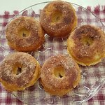 Hot n' homemade donuts from our Stonewall Kitchens baked donut pan