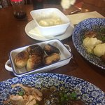 Cauliflower and cheese and extra roast potatoes