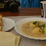 Pear torte and steinpilz soup - Yum