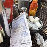 Bill for 4 of us with lots of drinks