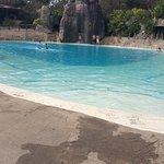 Área das piscinas.