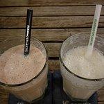 Fruit milkshakes and straws made of cornstarch