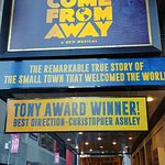 Come From Away Broadway Marquee