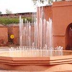 fountain near the fort entrance