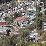 The slightly cleaner side of Nainital from the ropeway.